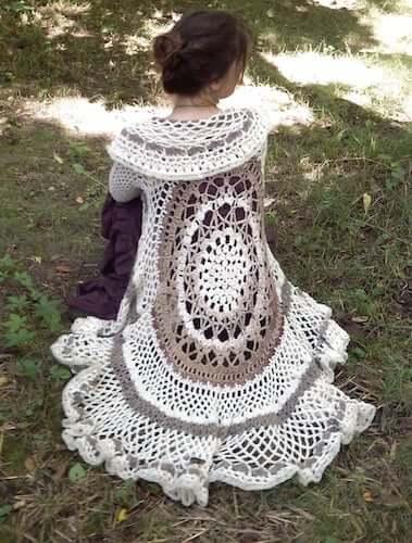 Mandala Duster Crochet Pattern by Morale Fiber