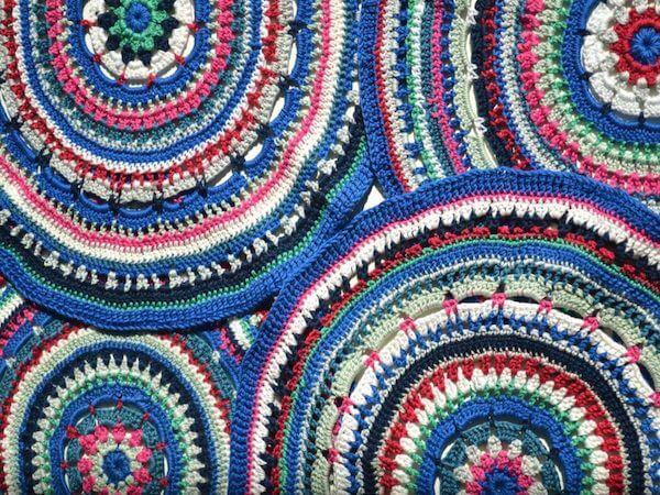 Mandala Placemat Crochet Pattern by Knitting With Chopsticks