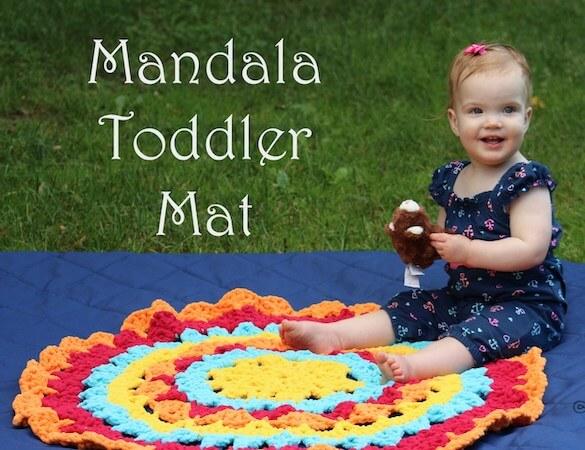 Mandala Toddler Mat Crochet Pattern by Celtic Knot Crochet