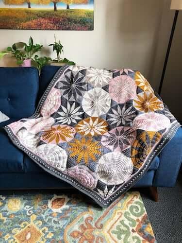 Marguerite Crochet Blanket Pattern by Mobius Girl Design