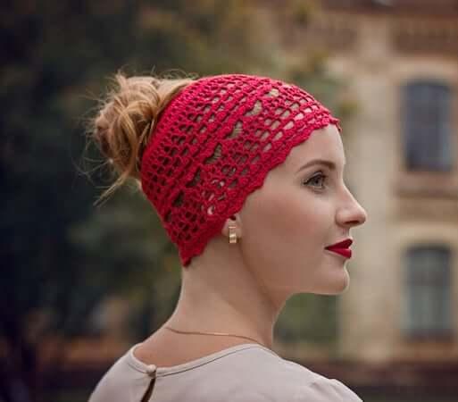 Messy Bun Hat Crochet Pattern by It Was Yarn