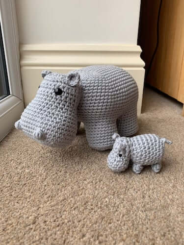 Mother And Baby Hippo Crochet Pattern by Lau Loves Crochet
