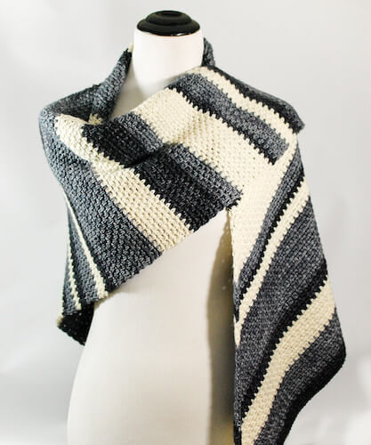 Ombre Shawl Free Crochet Pattern by Petals To Picots