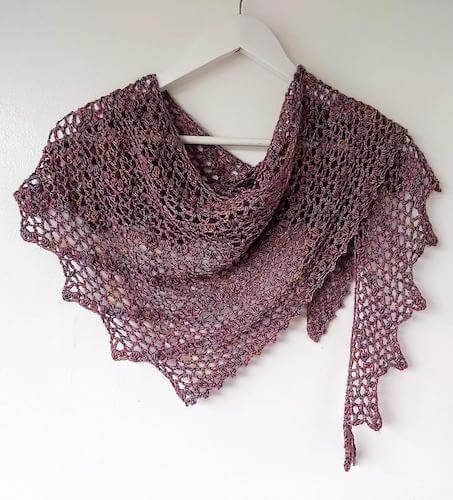 One Skein Lace Shawl Crochet Pattern by Annie Design