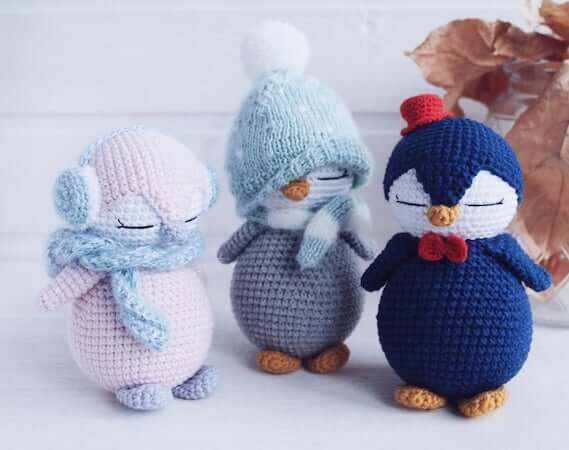 Penguin Baby Toy Crochet Pattern by Toys Crochet Studio