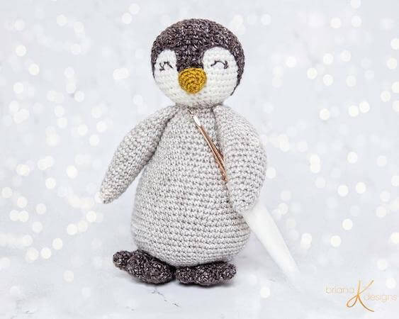 Penguin Buddy Crochet Pattern by Briana K Designs