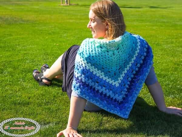 Royal Granny Shawl Free Crochet Pattern by Nicki's Homemade Crafts