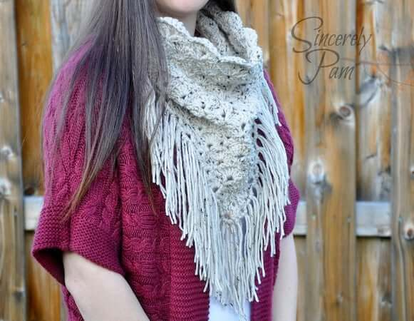 Shelby Triangle Cowl Crochet Pattern by By Sincerely Pam