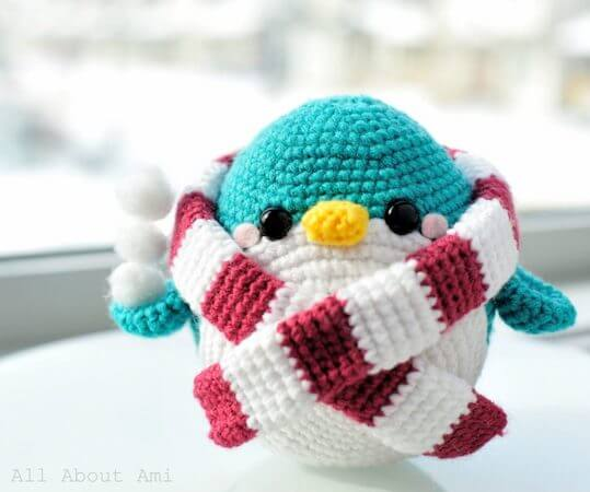Snuggles, The Penguin Crochet Pattern by All About Ami