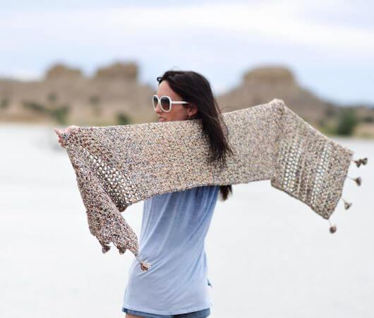 Summer Shawl Crochet Pattern by Mama In A Stitch