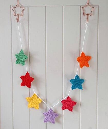 Super Simple Star Garland Crochet Pattern by Cro Create
