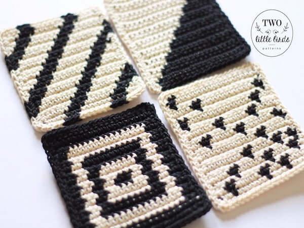 Tapestry Crochet Coaster Pattern by TLB Patterns