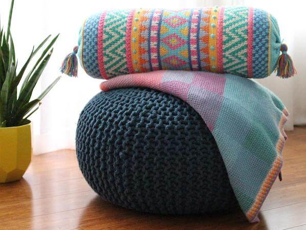 Tapestry Crochet Cushion Pattern by Poppy And Bliss