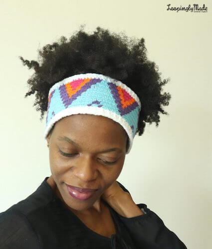 Tapestry Crochet Ear Warmer Pattern by Loopingly Made