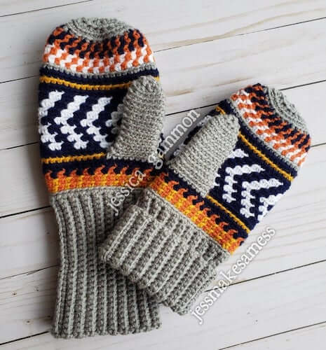 Tapestry Crochet Mittens Pattern by Jess Makes A Mess