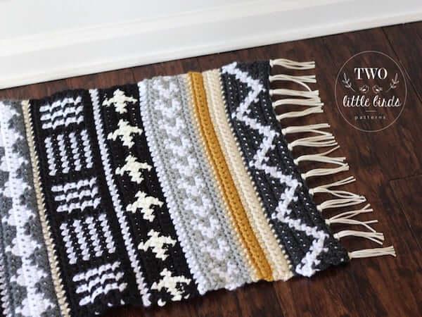 Tapestry Crochet Rug Pattern by TLB Patterns