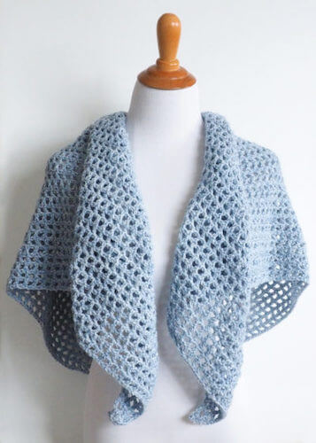 Wine Country Triangle Shawl Crochet Pattern by Simply Collectible Crochet