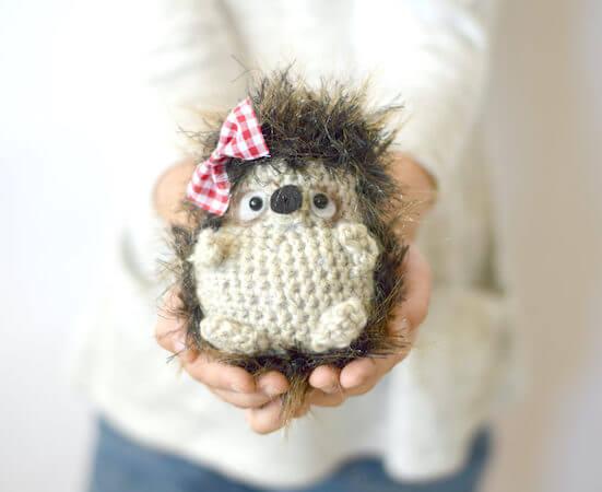 Woodland Hedgehog Amigurumi Crochet Pattern by Mama In A Stitch