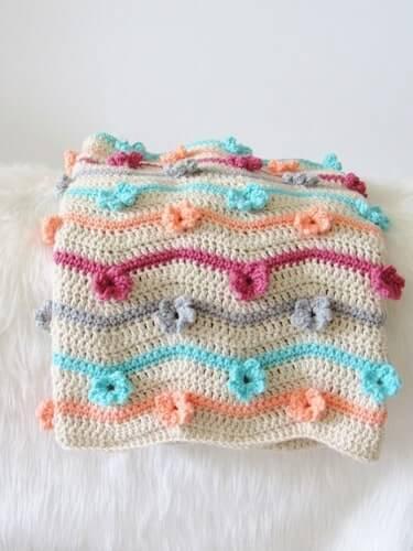 3D Flower Afghan Crochet Pattern by Crochet Dreamz