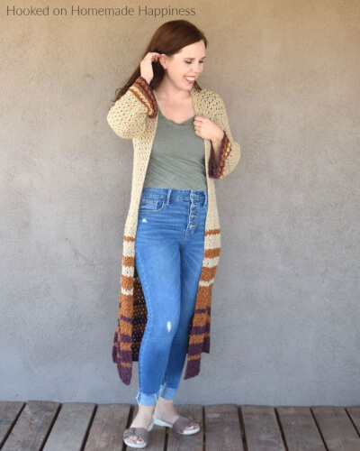 Boho Crochet Duster Pattern by Hooked on Homemade Happiness