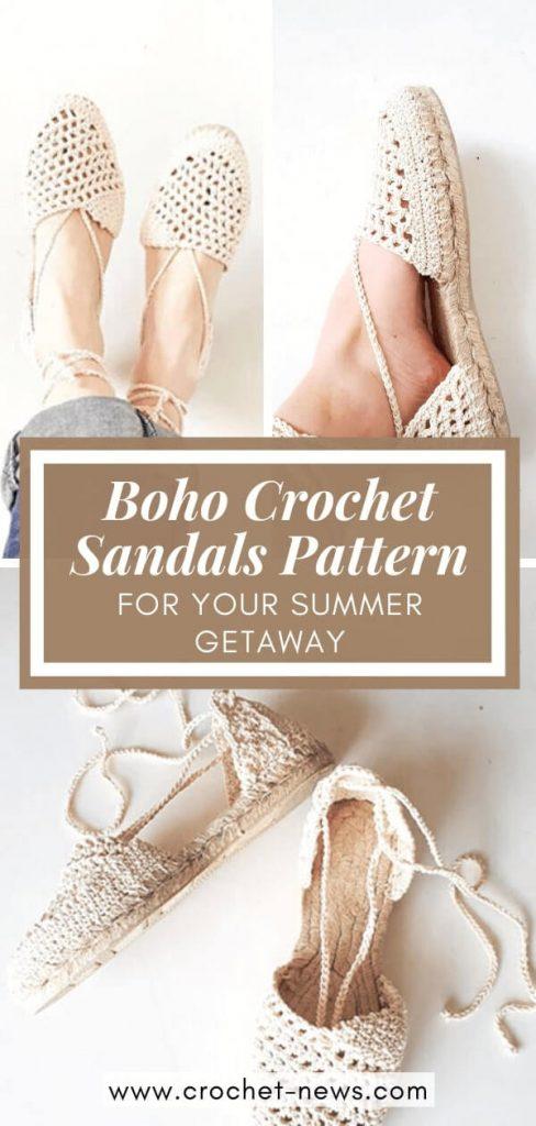 Boho Crochet Sandals Pattern By MakabakaFootwear