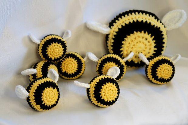 Buzz Off Stress Bee Crochet Ball Pattern by SoulsticeCrochet