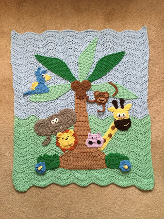 Jungle Blanket Crochet Animal Blanket Pattern from Talula Patterns