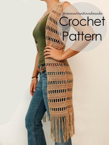 Lightweight Extra Long Duster Crochet Pattern by BreannaAnnHandmade