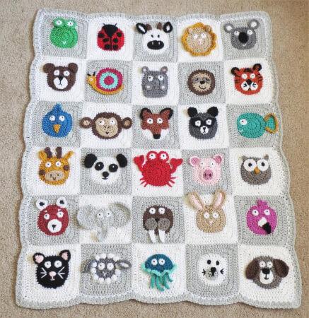 Zookeeper's Crochet Animal Blanket Pattern by Alyse Crochet