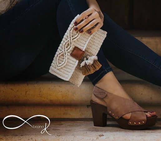 Aisling Infinity Crochet Clutch Pattern by Briana K Designs