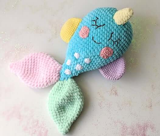 Amigurumi Narwhal Comforter Crochet Pattern by Olives Toy Box