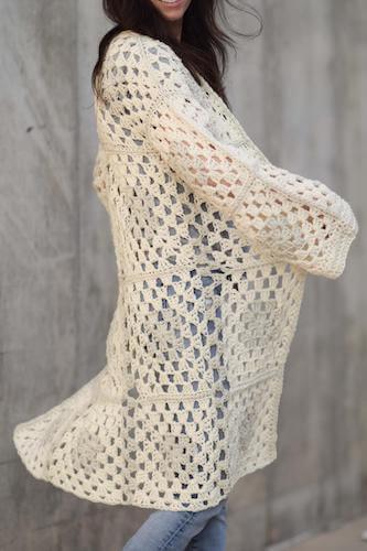 Arlo Granny Square Crochet Cardigan Pattern by Mama In A Stitch