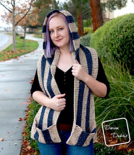 Artemis Hooded Scarf Crochet Pattern by Divine Debris