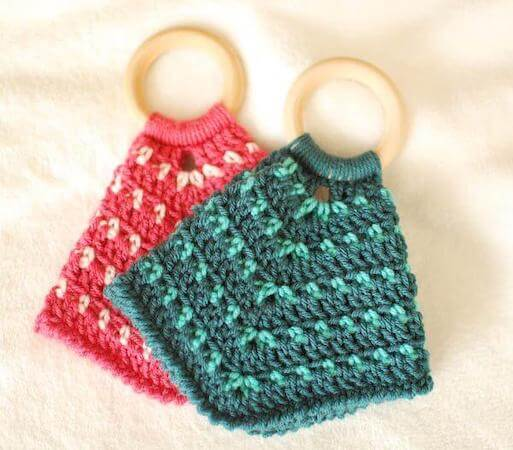 Baby Teether Lovey Crochet Pattern by Petals To Picots