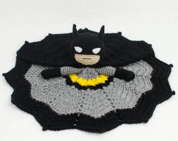Batman Lovey Crochet Pattern by Adventures In Yarnia