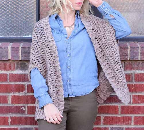 Cocoon Cardigan Free Crochet Pattern by Make And Do Crew