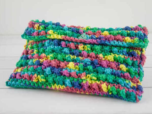 Cool Cobbles Clutch Crochet Pattern by Stitch In Progress