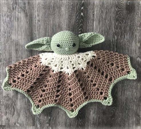 Crochet Baby Yoda Lovey Pattern by April Carrine Creates