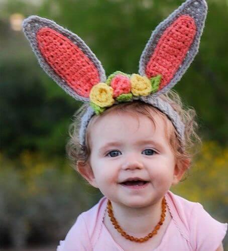 Headband Bunny Ears Crochet Pattern by Winding Road Crochet