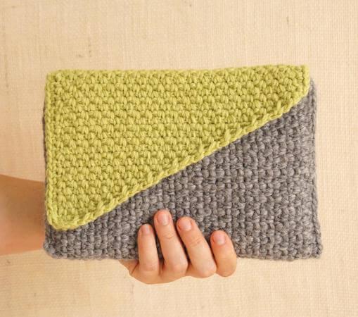 Crochet Clutch With Color Block Flap Pattern by Jakigu