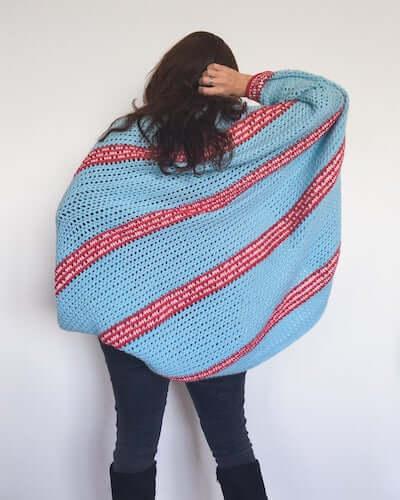 Crochet Cocoon Cardigan Sweater Pattern by Dora Does