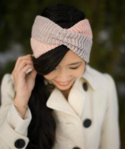 Crochet Criss-Cross Head Wrap Pattern by All About Ami