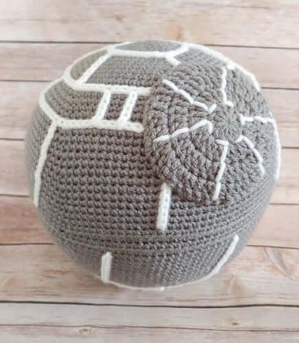 Crochet Death Star Pillow Pattern by Nerdpreneur Creations