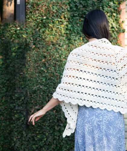 Crochet Dewdrop Wrap Pattern by For The Frills
