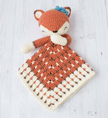 Crochet Fox Lovey Pattern by Tilly Some