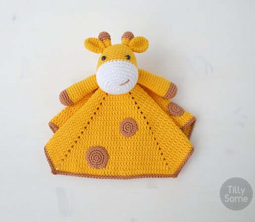 Crochet Giraffe Lovey Pattern by Tilly Some
