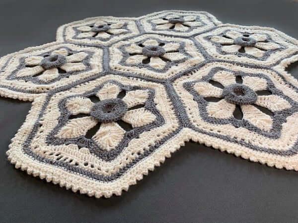 Crochet Jewel's Flower Blanket Pattern by City Farmhouse Store