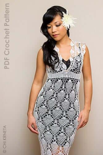 Crochet Lace Dress Pattern by ChiK Designs