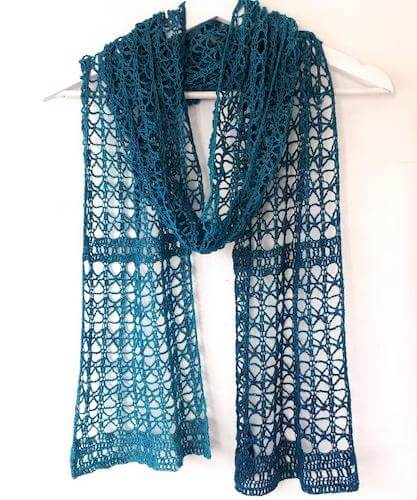 Crochet Lace Scarf Pattern by Annie Design