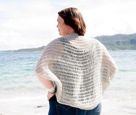 Crochet Laxus Cocoon Cardigan Pattern by Joy Of Motion Crochet